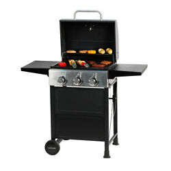 MASTER COOK  3 Bunner Classic Liquid Propane Gas Grill with Folding Table Black  $169.90