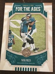 2019 Legacy For the Ages #FTA NF Nick Foles $1.05