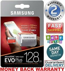Samsung 128GB Micro SD Card EVO Plus Class 10 UHS-I MicroSDXC U3 With Adapter