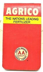 RARE 1950s AGRICO THE NATION#x27;S LEADING FERTILIZER SMALL ADVERTISING NOTEBOOK WOW $9.99