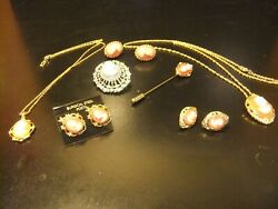 VINTAGE FIGURAL CAMEO COLLECTION Necklace Pins Earrings Pendants 14 pcs