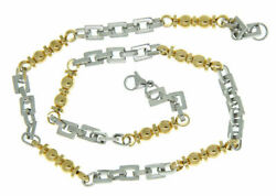 Infinite Love Jewelry Stainless Steel Necklace Unisex Links Two Tone Necklace
