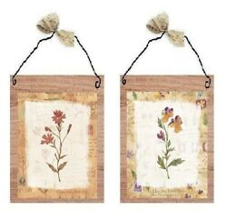 Beige Flower Pictures Tan Framed Floral Kitchen Decor Wall Hangings Plaques $7.99