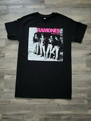 NEW RAMONES PINK LETTERS ROCKET TO RUSSIA T SHIRT $13.99