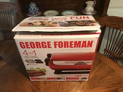 George Foreman 5-Serving Multi-Plate Evolve Grill System with Ceramic Plates...