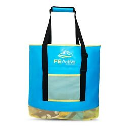 FE Active - 50 Liter Sand Free Beach Bag Large Size for Towels Toys and Snacks
