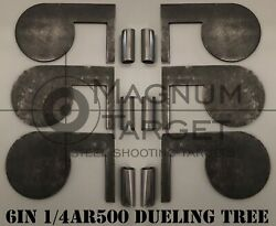 6quot;x 1 4quot; AR500 Steel Shooting Range Targets Dueling Trees Metal Paddles w tubes $56.99