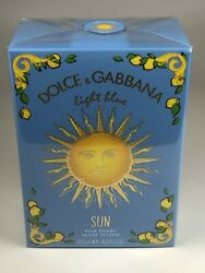 Dolce amp; Gabbana Light Blue Sun for Men 4.2 oz 125 ml EDT Spray NEW IN BOX SEALED $51.50