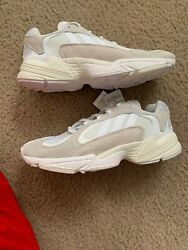 New Mens Adidas Yung 1 Cloud White Running White B37616 Size 10 $90.00