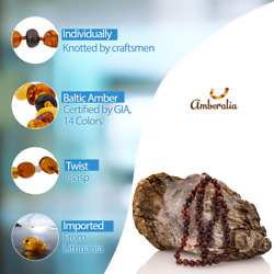 Adult Baltic Amber Necklace GIA Certificated