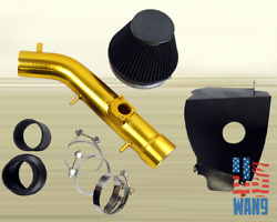 1999-2004 Toyota Tacoma 4Runner V6 Cold Air Intake Gold+Heat Shield Filter