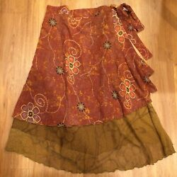Iris Impressions Boho Hippie Festival Wrap SkirtDress One Size $25.00