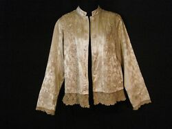 Vintage Jacket Luxurious Gold Boho Chic Embroidered French Chartreuse Top ML
