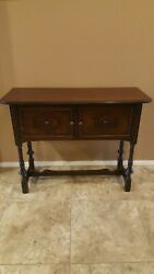 Antique Wooden Entryway Buffet Table