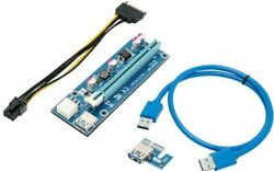 Rosewill RCRC 17001 PCI E 16x to 1x Powered Riser Adapter Card with Power Cable $8.99