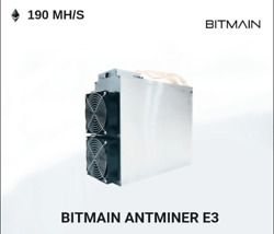 Used Bitmain Antminer E3 180MHs  ETHASH Miner WAPW3 & Power Supply- USA Seller