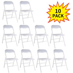 New 10PCS Folding Chairs Plastic Party Wedding Event Restaurant Commercial