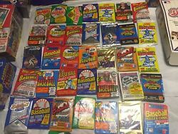 Uncle Fred's Old Baseball Cards 45 Cards In Unopened Packs + Bonuses Nice Lot