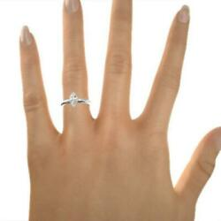 SOLITAIRE 3.00 CT H SI1 MARQUISE SHAPE DIAMOND 14 K WHITE GOLD RING LADY