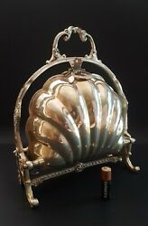 Antique Victorian FB Rogers Silverplate Bun Warmer Clamshell 515