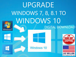 Upgrade Your Windows 7 8 8.1 to Windows 10 Digital Download Latest Release