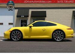2012 911 S 991S PDK 20in Wheels Racing Yellow Heated Seats  991S PDK 20in Wheels Racing Yellow Heated Seats Yellow Belts SAT Radio
