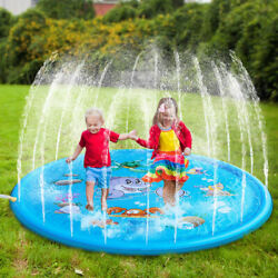 Large Inflatable Spray Splash Water Mat Kid Pad Outdoor Pool Beach Lawn Play Toy