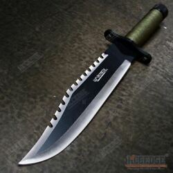 15quot; Two Tone Blade Rambo Survival Hunting Knife with Survival Kits $27.17