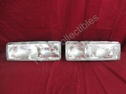 NOS OEM Cadillac Eldorado Seville Headlamp Light Lens 1986 - 91 PAIR