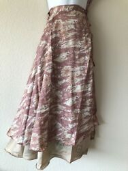 Silk Wrap Around Skirt Reversible Hippy Bohemian Gypsy Dress Handmade Nepal S13 $26.00