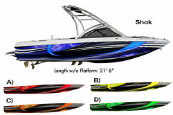 Shok - Boat Wrap Design 3M IJ180 Cast Vinyl Film Wakeboarding Decal