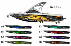 Genesis Tribal Checked Flag Boat Wrap Design 3M IJ180 Cast Vinyl Film Wakeboard