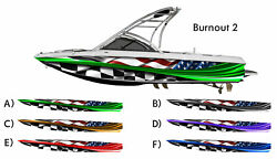 Burnout 2 Checkered American Racing Flag Boat Wrap 3M IJ180 Cast Vinyl Film