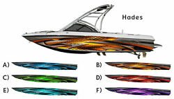 Hades Tribal Boat Wrap 3M IJ180 Cast Vinyl Film Wakeboarding - Diamond Plate