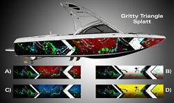 Gritty Triangle SPLATT! Boat Wrap 3M IJ180 Cast Vinyl Film Wakeboarding Decal