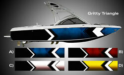 Gritty Triangle Boat Wrap 3M IJ180 Cast Vinyl Film Wakeboarding Decal