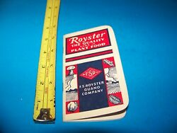 Royster Fertilizer quot;Daily Reminderquot; Memo Booklet 1957 F.S. Royster Guano Comp. $4.25