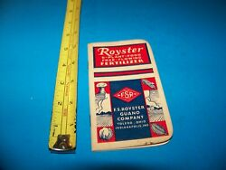 Royster Fertilizer quot;Daily Reminderquot; Memo Booklet 1954 F.S. Royster Guano Comp. $4.25
