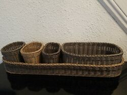 Pampered Chef Wicker Serving CaddyItem #2726. Gently used. Excellent condition