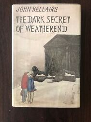 John Bellairs The Dark Secret Of The Weatherend Hcdj Ex Lib First Edition