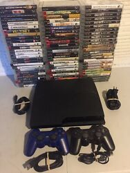Sony Playstation 3 Ps3 Console Controllers Games Cords Video Game System Bundle