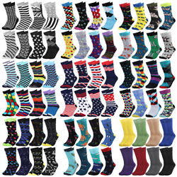 Falari 8 Pairs Men Colorful Funny Novelty Crazy Combed Casual Dress Socks $17.99