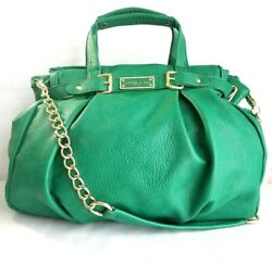 Olivia and Joy New York Large Green Vegan Hobo with Gold Accents
