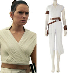 Star Wars 9 The Rise of Skywalker Rey Cosplay Costume Full Set Halloween Outfit