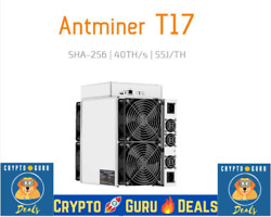 Bitmain Antminer T17 (40Th) with PSU - USA Seller IN USA Stock Available Today
