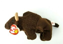 Very Rare - Ty Beanie Babies Roam The Buffalo w Tag - Retired 1998 With Errors