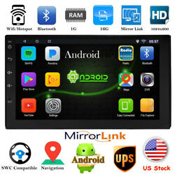 Bluetooth Android Car Stereo Navigation GPS Radio Head Unit USB Mirror Link 2Din