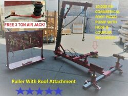 Portable Auto Body Frame Puller Straightener roof free clamps 3 TON AIR GO JACK