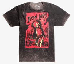 FRIDAY THE 13TH JASON LIVES ACID WASH T-Shirt NEW Authentic & Official