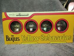 The Beatles Yellow Submarine Bearbrick Figure set by Medicom Toys NIB Mint